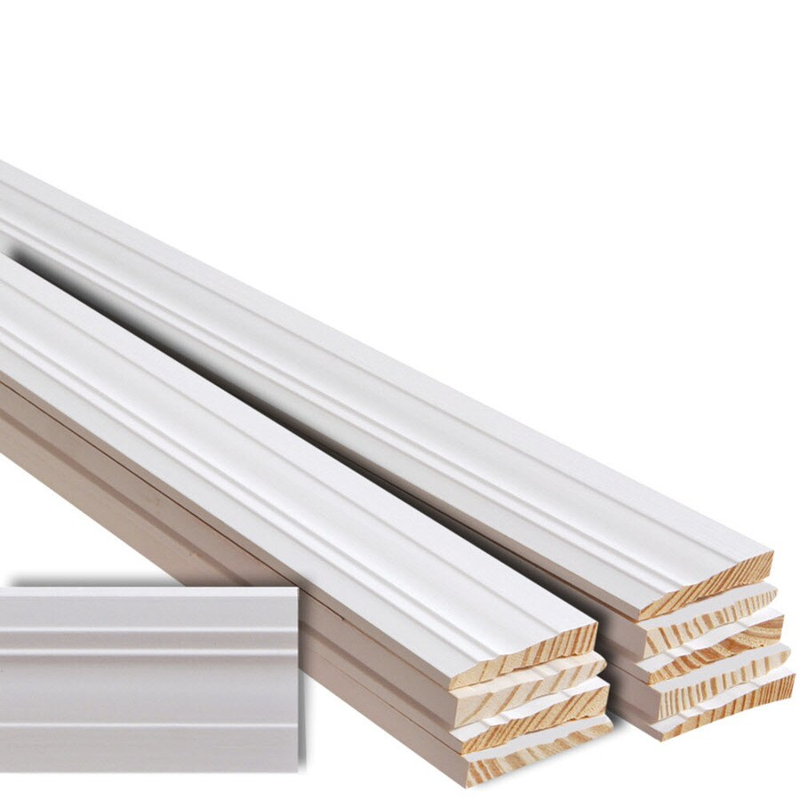 EverTrue 10-Pack 3.25-in x 12-ft Interior Pine Primed PFJ Baseboard Moulding