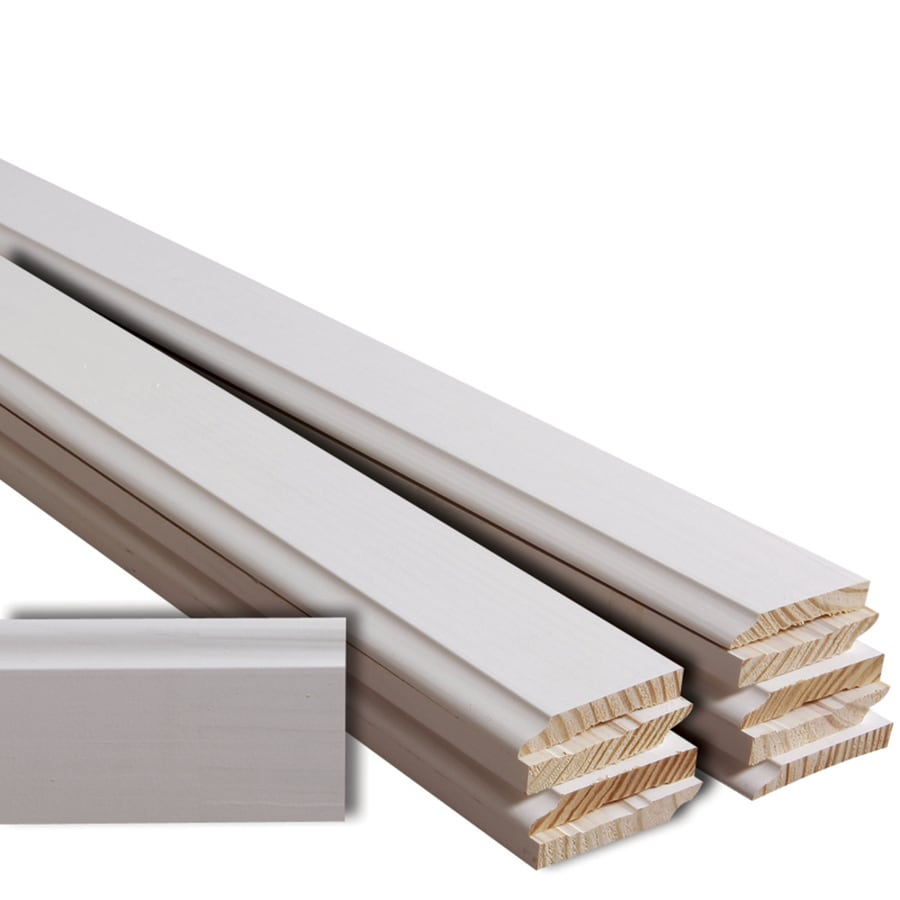 "EverTrue Finger Joint Primed Base 3 1/2"" x 12' x 9/16"" 120' Bundle"