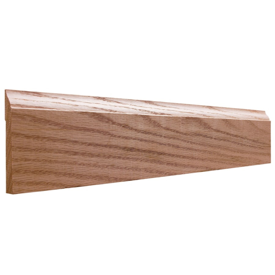 EverTrue 3.25-in x 12-ft Interior Oak Unfinished Baseboard Moulding