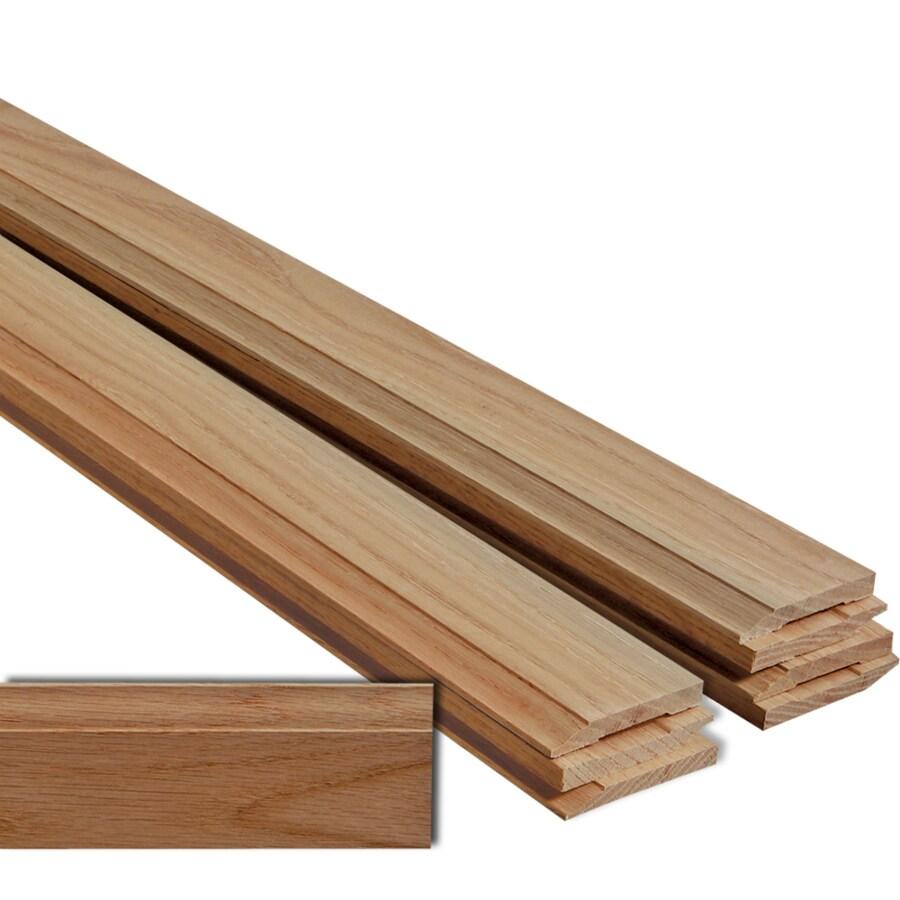 EverTrue 8-Pack 2.75-in x 12-ft Interior Oak Baseboard