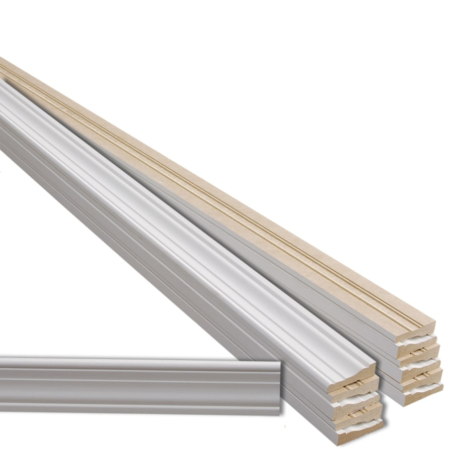 EverTrue 12-Pack 2.25-in x 7-ft Interior Primed MDF Window and Door Casing