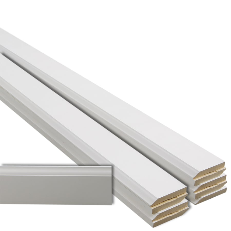 EverTrue 10-Pack 3.25-in x 12-ft Interior Primed MDF Baseboard Moulding
