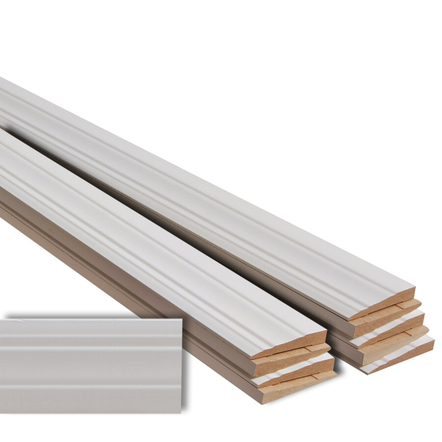 EverTrue 10-Pack 3.25-in x 12-ft Interior MF Baseboard