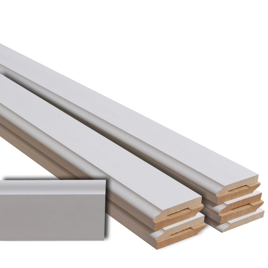 EverTrue 10-Pack 3.5-in x 12-ft Interior Primed MDF Baseboard Moulding