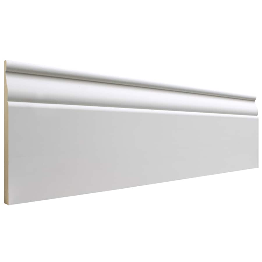 EverTrue 5.25-in x 12-ft Interior Primed MDF Baseboard Moulding