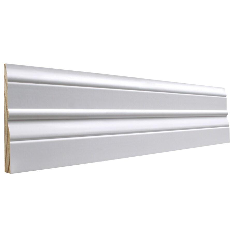 EverTrue 4.5-in x 12-ft Interior Pine Primed Finger Joint Baseboard Moulding