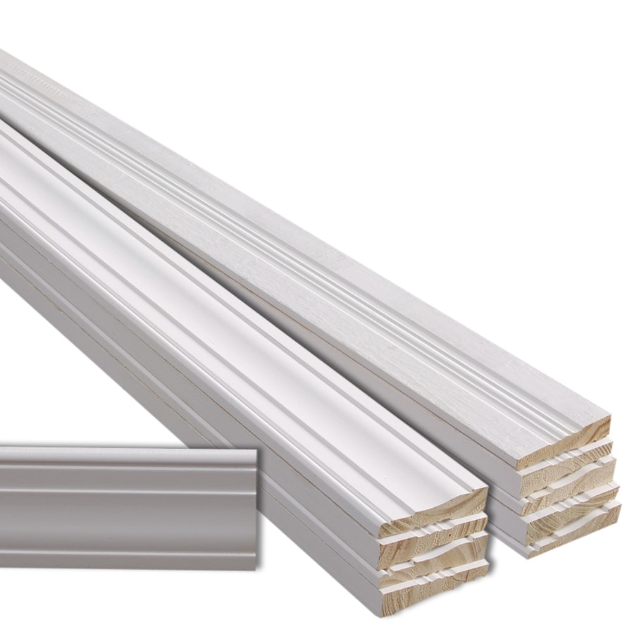 10 Pack 3 25 In X 8 Ft Interior Pine Primed Finger Joint Window And Door Casing At Lowes