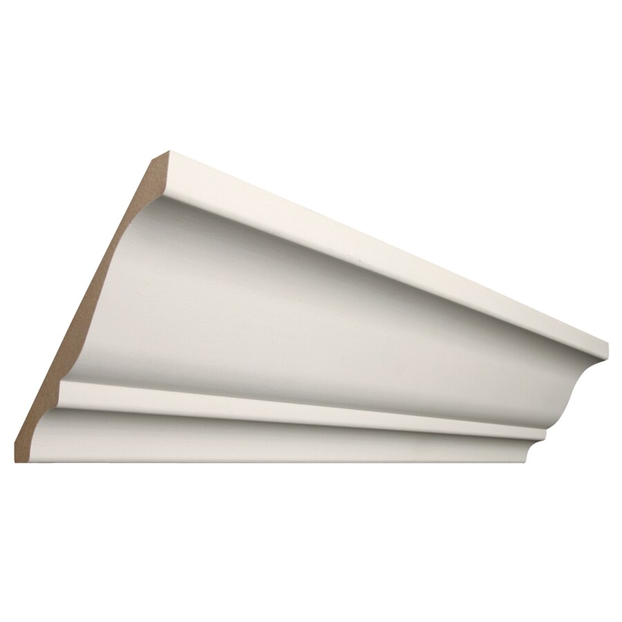 Shop Rapidfit 5 25 In X 12 Ft Primed Mdf Crown Moulding At