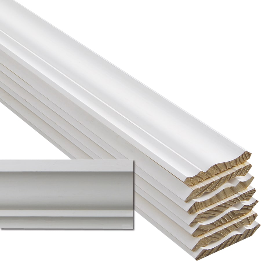EverTrue 8-Pack 3.625-in x 12-ft Pine Primed Finger Joint Crown Moulding