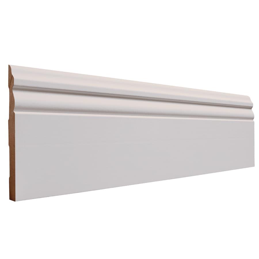 5.25-in x 8-ft Interior Primed MDF Baseboard Moulding