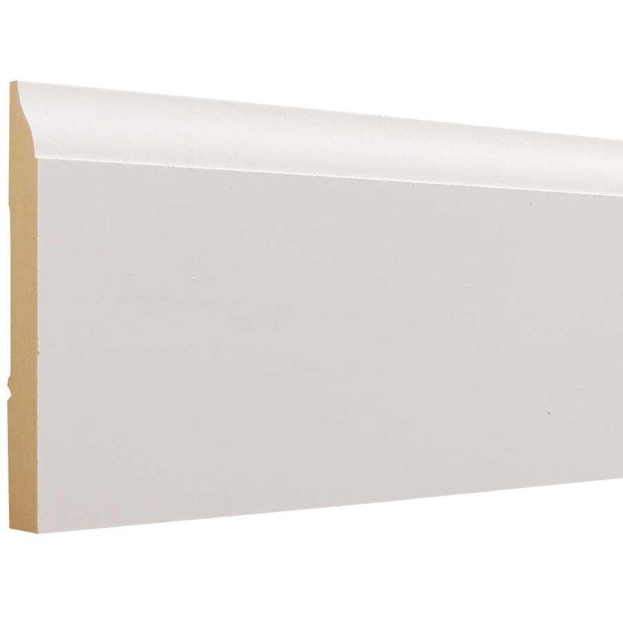 3.25-in x 12-ft Interior Painted MDF Baseboard Moulding