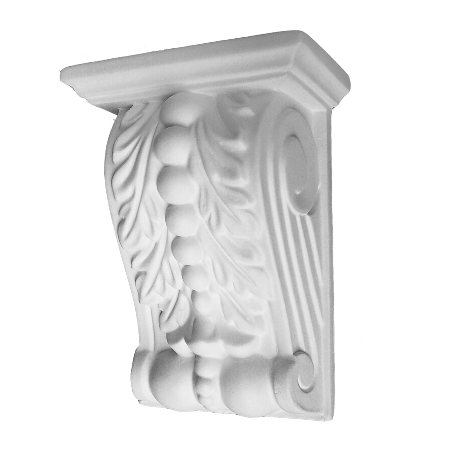 EverTrue 4-in x 5.625-in White Architectural Poly Bead and Left Bracket Polyurethane Corbel