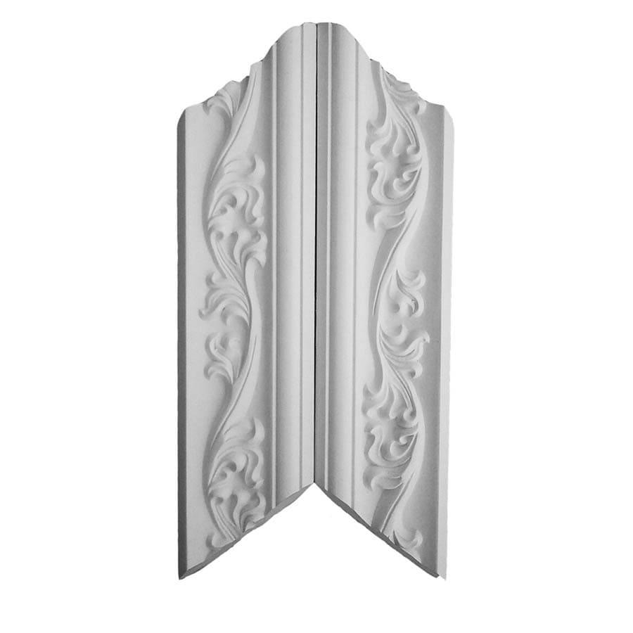 EverTrue 3.25-in x 12.375-in Polyurethane Inside Corner Crown Moulding Block