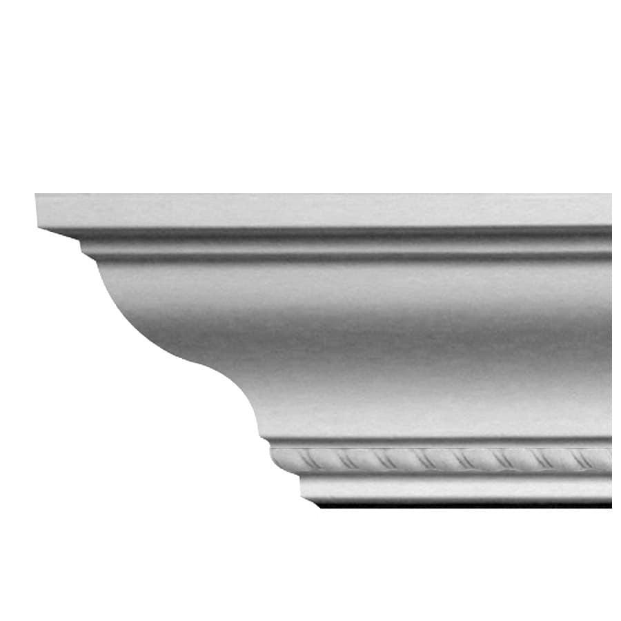 Ceiling Trim Lowes: Shop EverTrue 3.875-in X 8-ft Primed Polystyrene Rope