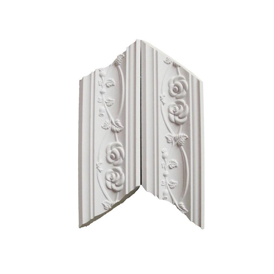 EverTrue 3.25-in x 12.375-in Prefinished Polyurethane Inside Corner Crown Moulding Block