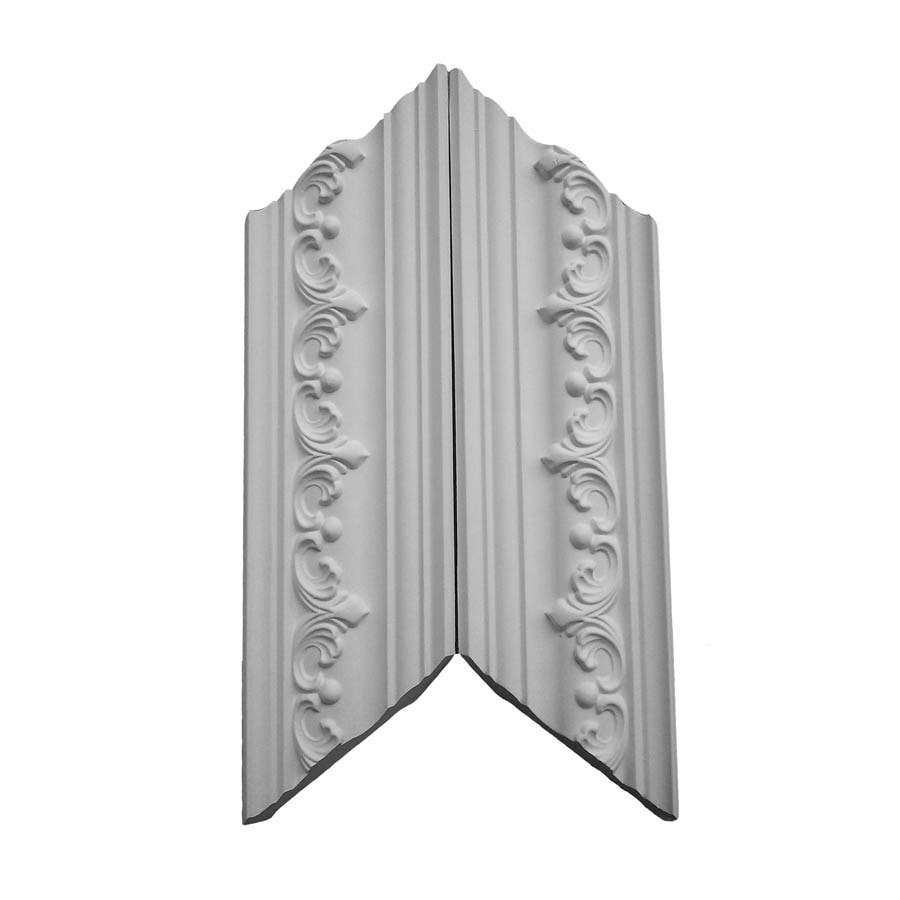 EverTrue 3.75-in x 1.03-ft Primed Polystyrene Crown Moulding