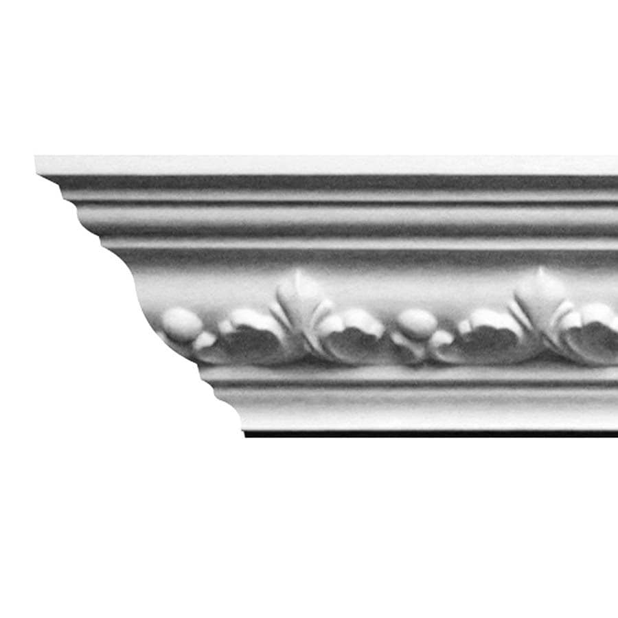 EverTrue 3.75-in x 8-ft Primed Polystyrene Crown Moulding