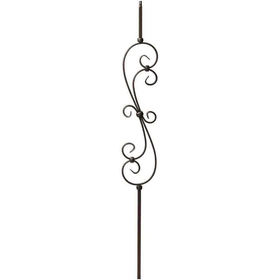 Creative Stair Parts Scroll 44-in Antique Bronze Wrought Iron Scroll Stair Baluster