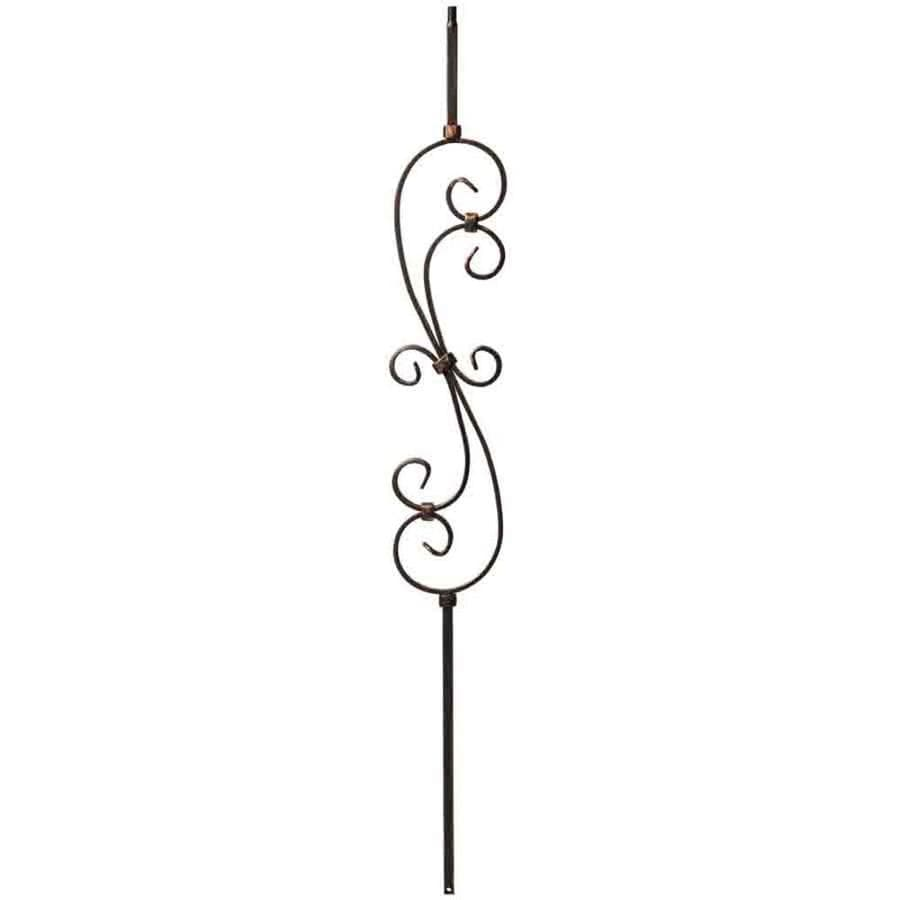 Creative Stair Parts Scroll 44-in Oil-Rubbed Copper Wrought Iron Stair Baluster