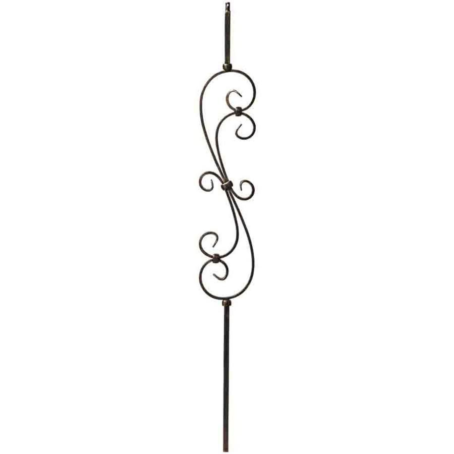 Creative Stair Parts Scroll 44-in Oil-Rubbed Bronze Wrought Iron Scroll Stair Baluster