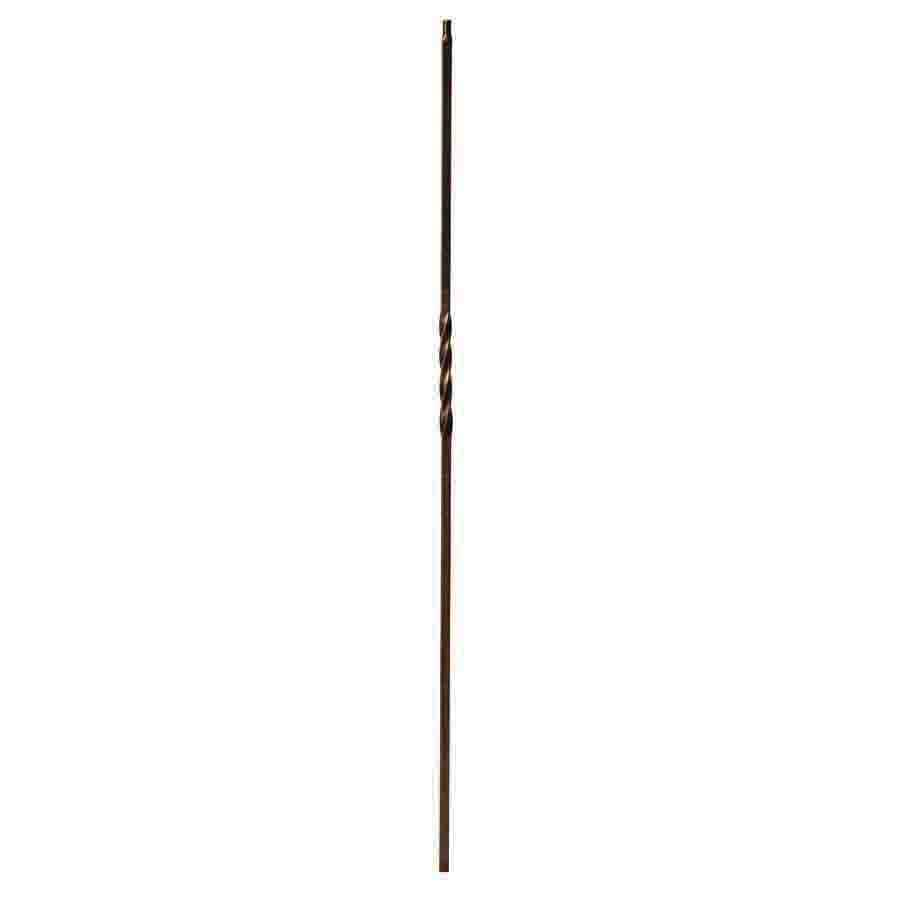 Creative Stair Parts Basket and Twist 44-in Oil-Rubbed Bronze Wrought Iron Twist Stair Baluster