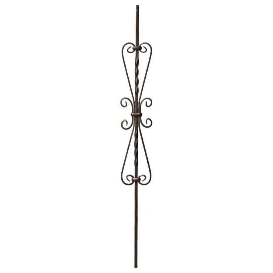 Creative Stair Parts Scroll 44-in Oil-Rubbed Copper Wrought Iron Scroll Stair Baluster