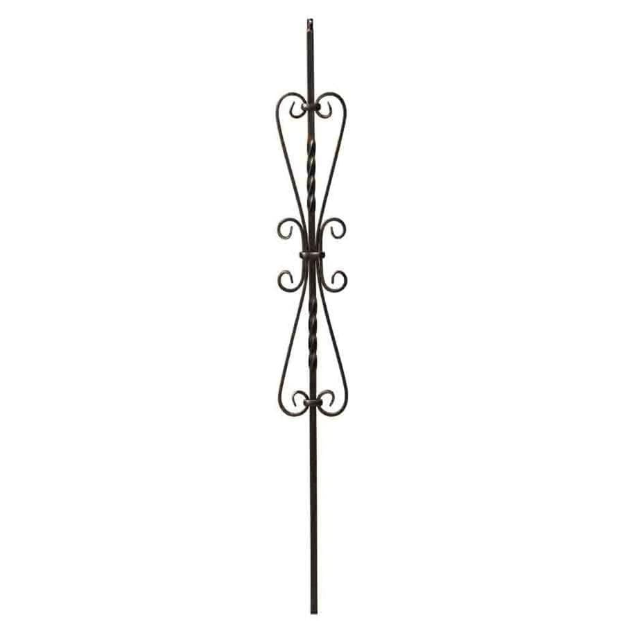 Creative Stair Parts Scroll 44-in Oil-Rubbed Bronze Wrought Iron Stair Baluster