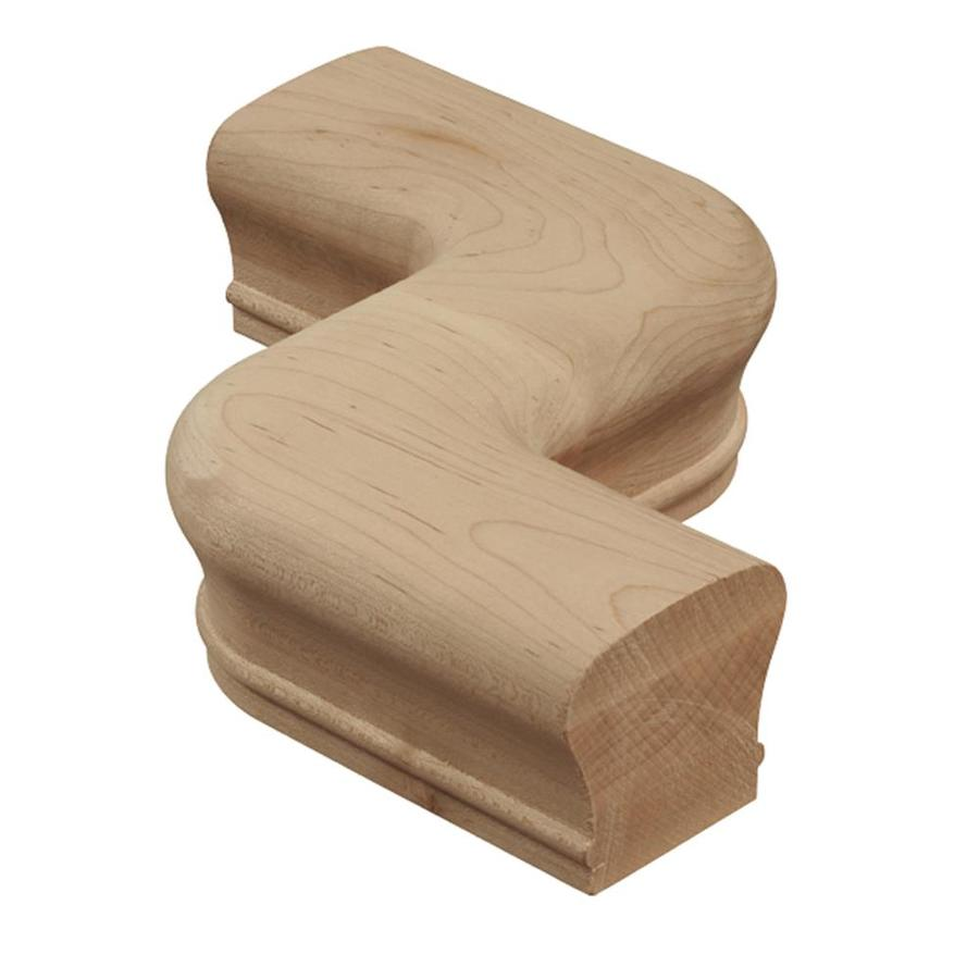 Creative Stair Parts Maple Unfinished Wood Offset Handrail Fittings