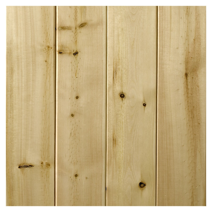 Empire Company 3.5625-in x 8-ft V-Groove Raw Cedar Wood Wall Panel