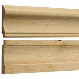 Shop Base And Chair Rail Kit White Hardwood Wall Panel Moulding At