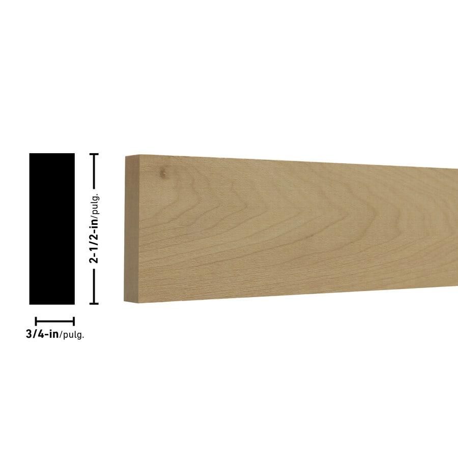 (Common: 1-in X 3-in x 12-ft; Actual: 0.75-in x 2.5-in x 12-ft)   Poplar Board