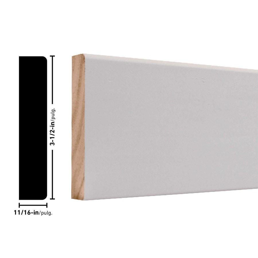 3.5-in x 12-ft Interior Pine PFJ Baseboard