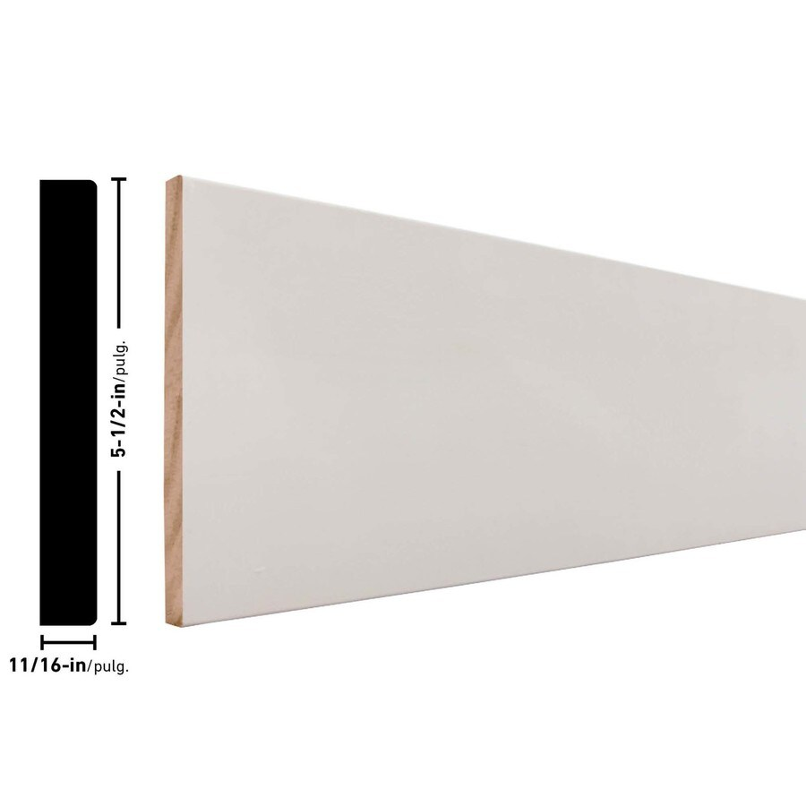 5.5-in x 12-ft Interior Pine Primed Finger Joint Baseboard Moulding