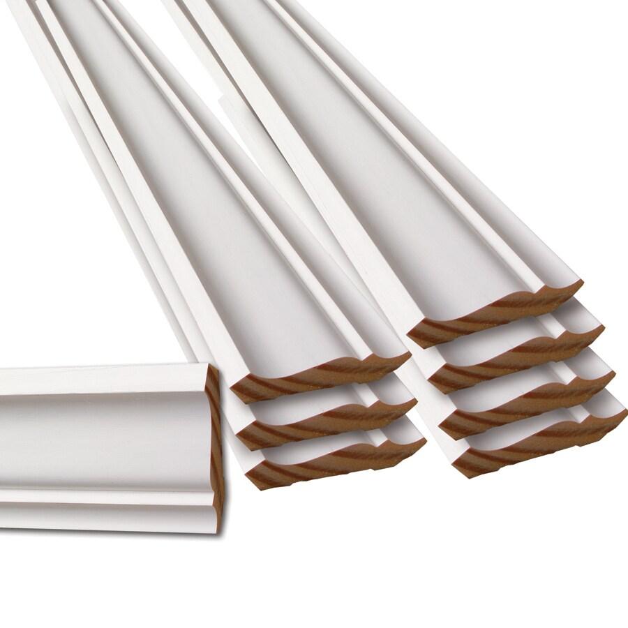 8-Pack 2.625-in x 12-ft Pine Primed Finger Joint Crown Moulding