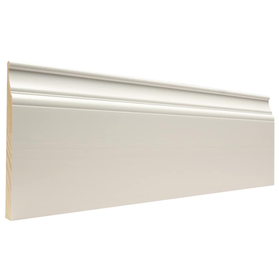Artise & Wright 6.25-in x 12-ft Interior Pine Painted Baseboard Moulding