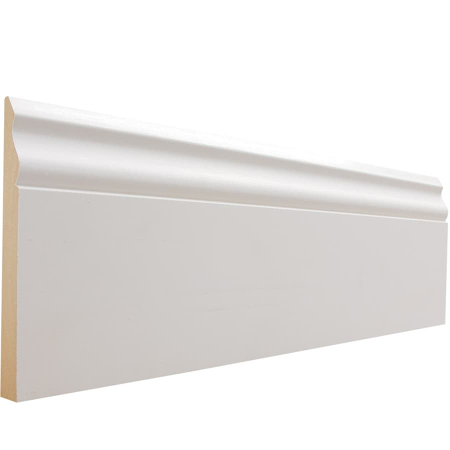 5.25-in x 8-ft Interior Pine Primed MDF Baseboard Moulding