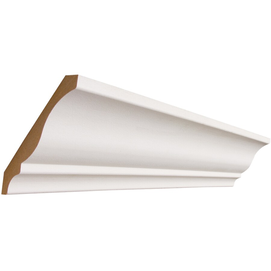 4.25-in x 8-ft Primed MDF Crown Moulding