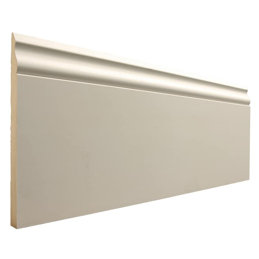 7.25-in x 8-ft Interior Primed MDF Baseboard Moulding