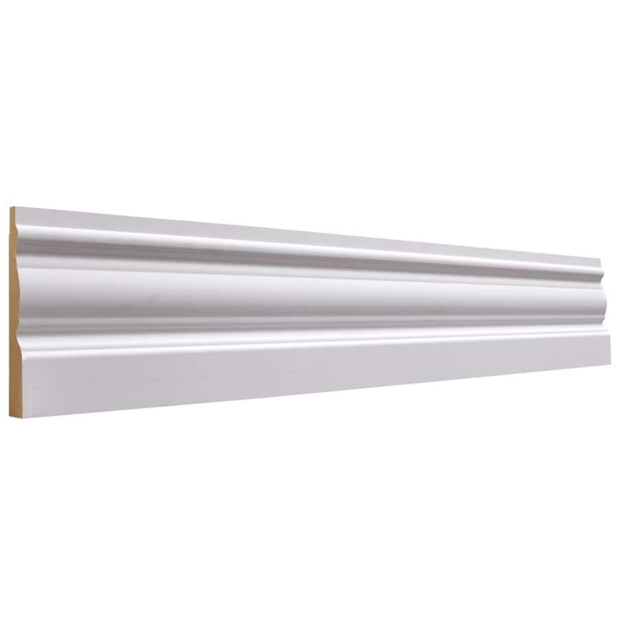 3.25-in x 12-ft Interior Primed MDF Baseboard Moulding