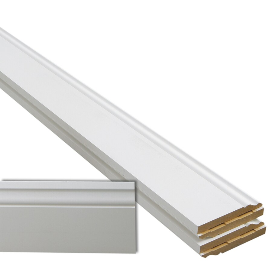 5-Pack 5.25-in x 12-ft Interior Primed MDF Baseboard Moulding