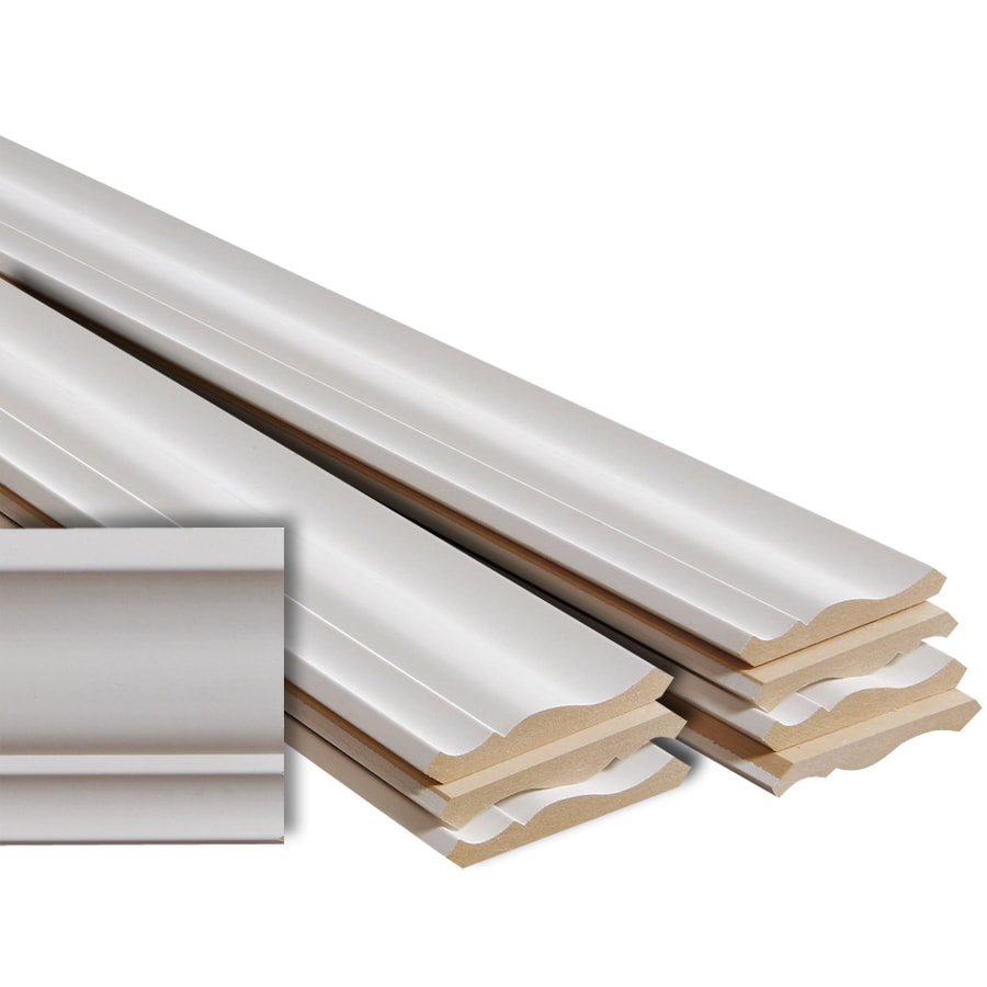 8-Pack 4.625-in x 12-ft Mdf Crown Moulding