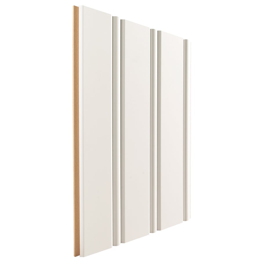 Artise & Wright 3.8125-in x 8-ft White MDF Wall Plank
