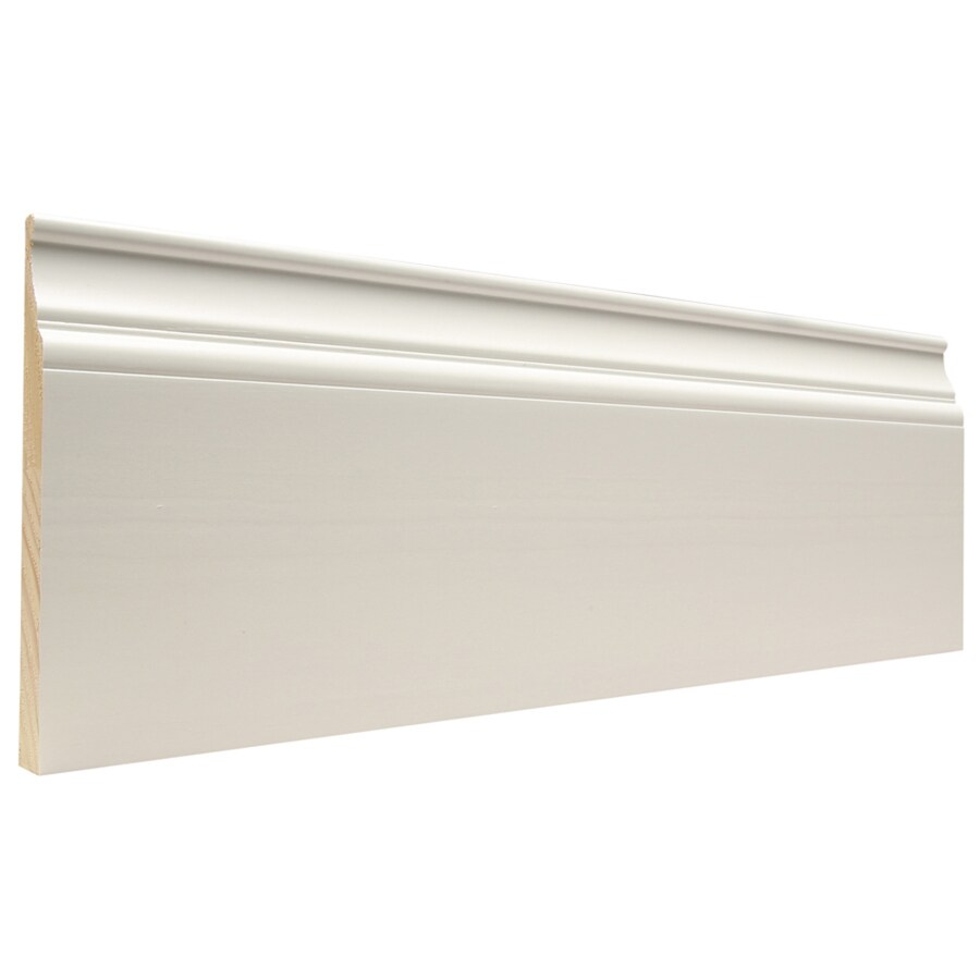 Artise & Wright Richmond 6.25-in x 12-ft Interior Pine Painted Finger Joint Baseboard Moulding
