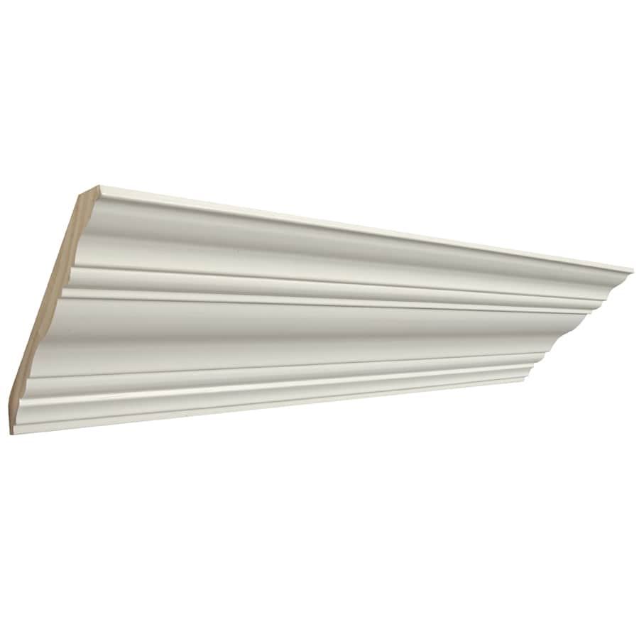 Artise & Wright Richmond 6-in x 12-ft Pine Painted Finger Joint Crown Moulding