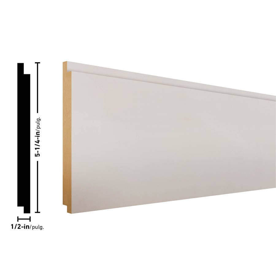Craftsman 5.25-in x 8-ft White MDF Wall Plank