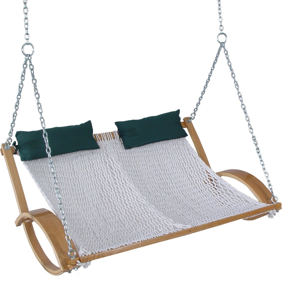 Pawleys Island 2 Seat Wood Traditional Double Rope Swing At Lowes Com