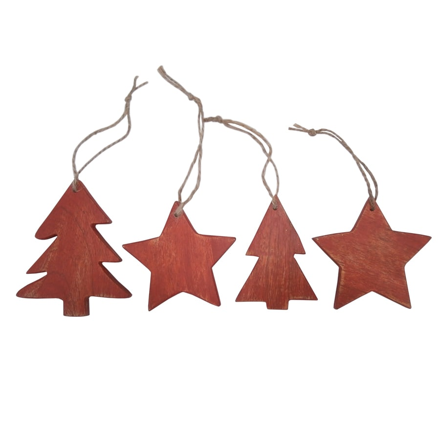 Holiday Living Red Ornament Set Lights