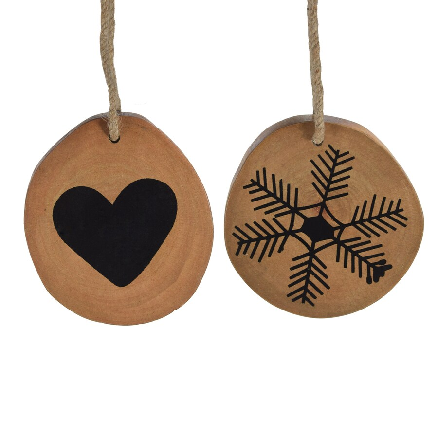 Holiday Living 4-Pack Natural And Painted Snowflake Ornament Set