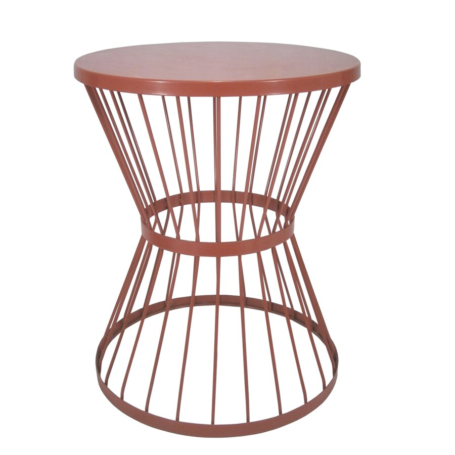 Garden Treasures 20-in Red Powder Coated Indoor/Outdoor Round Steel Plant Stand