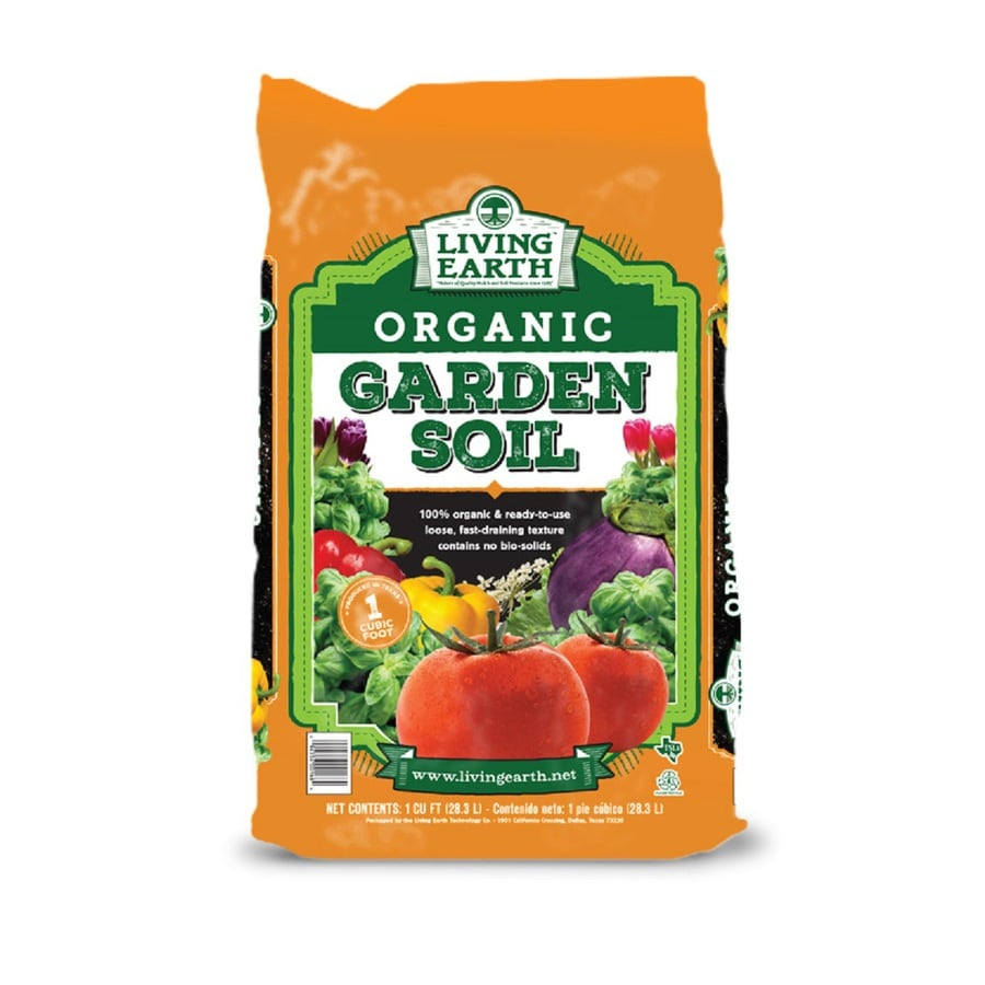 Living Earth 1-cu ft Organic Flower and Vegetable Garden Soil